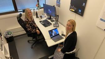 Elise Støle og Pernille Wabakken holder VB Smart-webinar.