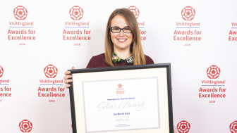 Fiona Dodd Graphic Designer at Go North East was part of the team working on the award-winning Big Days Out campaign. She collected Go North East's silver Innovation in Tourism accolade at the VisitEngland Awards for Excellence 2018