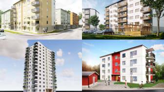 14 investeringsprojekt i Kalmar kommun har hittills beviljats 1,1 mdkr i Gröna lån. Flera avser bostäder i Kalmarhems regi.
