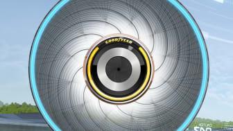 Goodyear presenterar sitt senaste konceptdäck.
