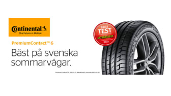 Bäst i test när Aftonbladet korar årets sommardäck - PremiumContact™ 6 åter testvinnare