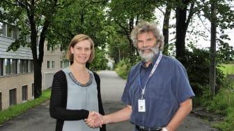 Ida Synnøve Hystad fra Aquastructures og Morten Berntsen fra Kiwa ser fram til å samordne kreftene og lanserer nå en totalpakke for havbruksnæringen.