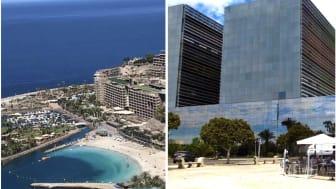 Left:  ANFI Del Mar.  Right:  Administrative Courts in Las Palmas