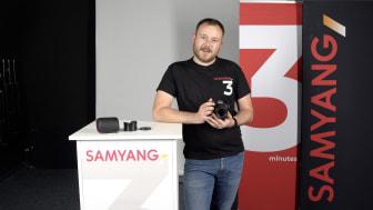 """WALSER-Mitarbeiter Michell Trommler moderiert die erste Folge des neuen Formats """"SAMYANG 3 Minutes""""."""