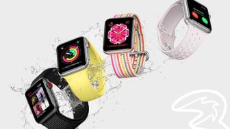 Apple Watch Series 3 (GPS + Cellular) snart hos Tre