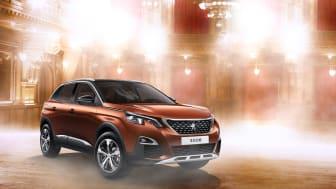 Peugeot 3008 SUV i Let's dance-miljö.