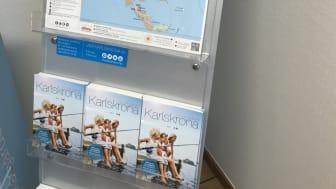 Visit Karlskronas informationsställ som nu finns utplacerade på strategiska platser