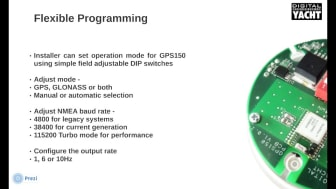 The GPS150 DualNav™ positioning sensor