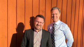 Jan Liljeqvist och Nils Lagerlöf är nya franchisetagare för HusmanHagberg i Uppsala.