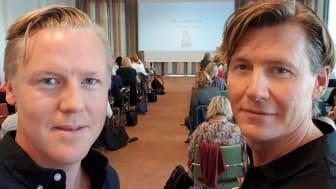Fredrik Blomqvist och Andreas Ryve, projektledare respektive professor i matematikdidaktik på MDH