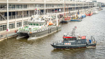 Live on-water vessel and equipment demonstrations will take place in the adjoining Royal Victoria Dock