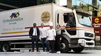 Clarion Hotel Sign tillsammans med sin leverantör Grönsakshallen Sorunda tar upp kampen mot onödig packeteringsplast