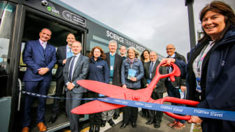 Official ribbon cutting of new Thames Travel Science Shuttle Service