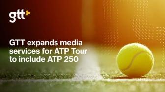 GTT utökar leveransen av medietjänster till ATP-touren
