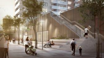 Coop öppnar butik i bottenplanet på Riksbyggens Brf Blicken i Haninge