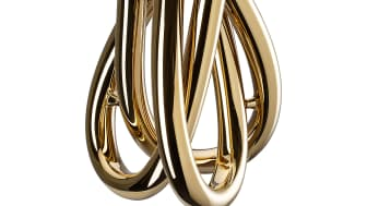 Goldener Blickfang: Die Vase Triu von Rosenthal
