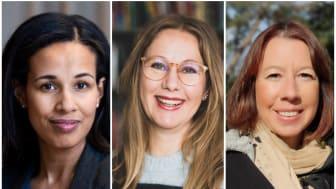 Nya styrelsemedlemmar i Våra barns klimat: Nathalie Green, Klara Adolphson och Marie Ljungberg