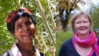 Elizabeth Ncube, Eva Zillén och Shahla Ismayil deltar i samtalet om kvinnorättsförsvarares utsatthet.