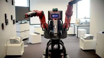 Robot av modellen Baxter, av samma typ som finns på robotlabbet vid Högskolan i Gävle. FOTO: TT