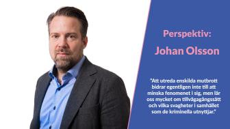 Perspektiv: Johan Olsson, Polisen - om korruption och organiserad brottslighet