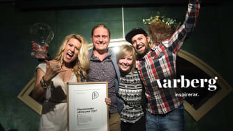 Hallifornia-arrangörerna på Nordic Surfers firar utmärkelsen Placebrander of the year 2017