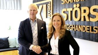 Tomas Fritzon, VD Bolist AB och Karin Eriksson VD XL-BYGG AB