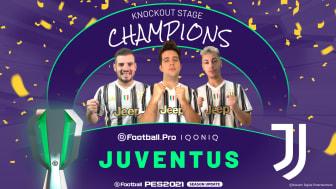 JUVENTUS CROWNED eFootball.Pro IQONIQ CHAMPIONS FOR 2020/21 SEASON