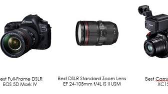 Canon tilldelas tre utmärkelser av TIPA 2017