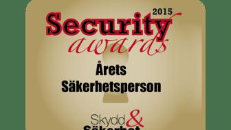 """Logga Security Awards """"Årets Säkerhetsperson 2015"""""""