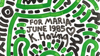 Keith Haring, For Maria June 1985
