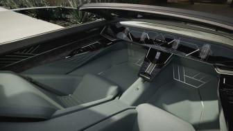 Audi skysphere interiør med skjult rat og pedaler