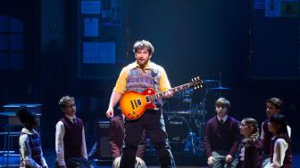 School of Rock - The Musical, bild från originalföreställningen på Broadway med barn