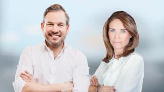 Tommy Eklund, VD Fortnox och Anna Bergius, VD Offerta