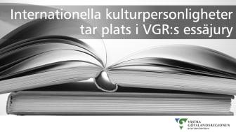 Internationella kulturpersonligheter tar plats i VGR:s essäjury
