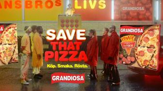 Grandiosa låter svenska folket avgöra pizzans öde genom ett rafflande dance-battle i Dalarna