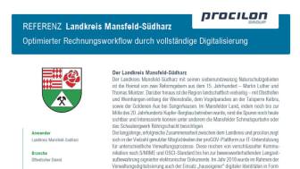 procilon Referenzblatt | Landkreis Mansfeld-Südharz - Optimierter Rechnungsworkflow durch vollständige Digitalisierung