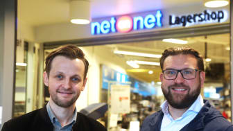 Lasse Myrås i Best Transport og Peter Andersson i NetOnNet