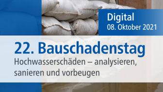 22. Bauschadenstag im Live-Stream: Hochwasserschäden im Fokus