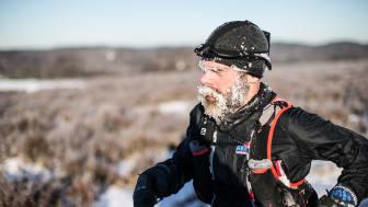 Rikard Hallgren på Ultratrippeln Sandsjöbacka Trail Winter 2016
