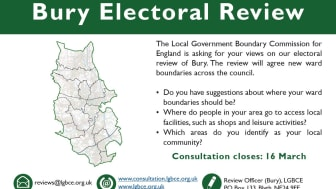 Have your say on a new political map for Bury Council