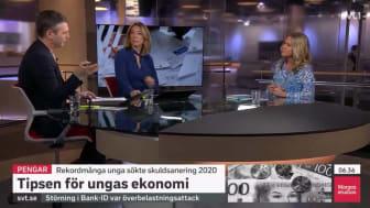 SVT Morgonstudion Christina Sahlberg