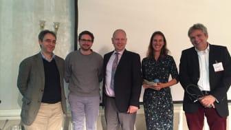 Diskutierten die digitale Anwendungen in der ambulanten Versorgung: Dr. Tobias D. Gantner, Marco Schmidt, Dr. Ulrich Clever, Jessica Hanneken, Dr. Thomas Aßmann (v.l.)