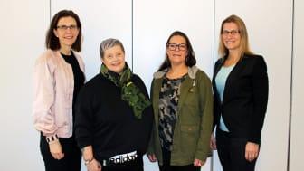Fr. vänster: Marita Fernström, Gittelina Pazur, Linda Hallin & Nilla Helgesson