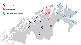 Områdeutbygging av hurtigladere Troms og Finnmark - uten stedsnavn