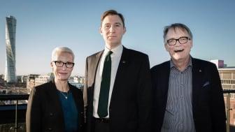 Pia Sandvik, VD, RISE, Henrik Fritzon (S), regionstyrelsens ordförande, Torbjörn von Schantz, rektor Lunds universitet. Bild: Per Wilkens