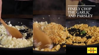 "Cuttlefish Rossejat with seafood stock"" Recipe by Joan Capilla. Gastronomic Hotel Algadir del Delta"