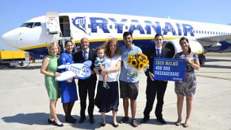 Ryanair firar 400 000 passagerare