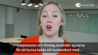 Anna Lindgren presenterar Smart Refills erbjudande inom Telekom