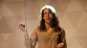 Medgrundaren Johanna Björklund, prisad techentreprenör.