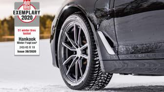 Winter i*cept evo3 fick högsta betyg i Auto Bilds vinterdäcktest i utgåva 38 2020